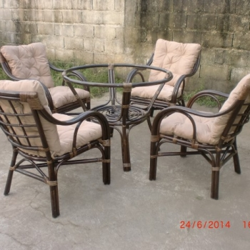 mataka dining set darkbrown